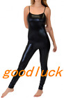 Black Suspender Bodysuit Jumpsuit Zentai Suit Dance Catsuit Party Club Costume