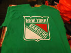 St.Patrick's Day Green New York Rangers  Tee Shirt New  FREE POSTAGE