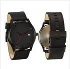 Matte Leather Outdoor Calendar Simple Alloy Men's Wrist Watches Fashion