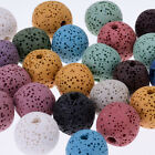 Round Lava Beads Handmade Jewelry Earrings,Bracelet,Necklace mixed color