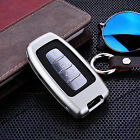Luxury Fob Case Cover For KIA Remote Car Key Aircraft Aluminum+100% Real Leather