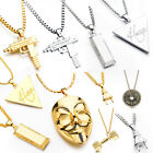 Gold/Silver Plated Electric Power Plug Pendant Shock Hip Hop Necklace Chain Gift