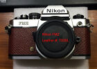 Nikon FM2 camera replacement leather cover precut self-adhesive!