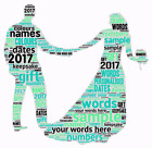 word art picture personalised gift present keepsake wedding day marriage couple