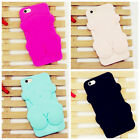3D Bear Cartoon Silicone Rubber Soft Case Cover For iPhone 5/6/7 Samsung Huawei