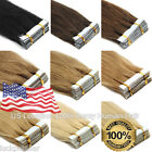 7A Brazilian Human Hair Extensions Seamless Tape in Weft Remy Hair DIY Style USA