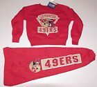 Vintage 90's CHILDS San Francisco 49ers Sweatshirt & Pants SET NWT New Old Stock