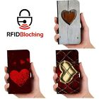 Heart Love Luxury Flip Cover Wallet Card PU Leather Phone Case Stand Galaxy