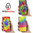 RFID Protected Tye Die Collection PU Leather Wallet Case Cover for Apple iPhone