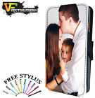 QUALITY PERSONALISED CUSTOM PHOTO GIFT LEATHER WALLET FLIP PHONE CASE COVER