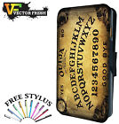 Ouija board Talk To Dead Ghost Evil YES NO Goth - LEATHER FLIP PHONE CASE COVER