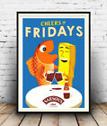 Cheers to Fridays (Sarsons Vinegar) , Vintage advertising Poster reproduction.