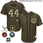 NEW Anthony Rizzo Chicago Cubs Mens Salute to Service Military Camo Jersey