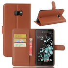 9 Colors Leather Case Flip Wallet Stand Cover Pouch For HTC U Ultra (2017)