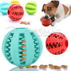 7cm Pet Dog Cat Training Toy Rubber Ball Dental Chew Treat Dispensing Holder NEW