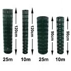 PVC Coated Wire Mesh Fencing 90cm or 120cm Height Green Galvanised Garden Fence
