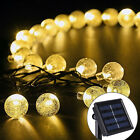 30 LED Crystal Ball Solar Powered String Indoor or Outdoor Lights