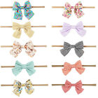 1PC Baby Girls Headband Head Wrap Cotton Hair Bow Printed Floral/Dots/Striped