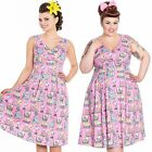 Hell Bunny Maxine Flamingo 50s Dress Rockabilly Retro Tattoo Pin Up Vintage