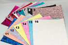 Chunky Glitter Fabric SHEETS A5 size For Crafts & Bows