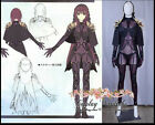 Fate Grand Order Saber Lancer Scathach Cosplay Costume Leather FGO Full Custom