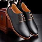 Mens Leather Oxfords Dress Formal Shoes British Style Casual Loafers Fashion