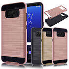 Shockproof Brushed Rugged Soft Rubber Skin Back Case Cover For Samsung Galaxy S8