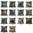 Painting Birds Pattern Home Decor Sofa Cotton Linen Cushion cover Pillowcase 18""