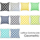 "18"" Lattice Gotcha Link Geometric Decor Square THROW Pillowcase Cushion cover"