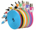 1M2M3M/3FT6FT10FT Micro USB Flat Noodle Data Charger Cable For Samsung Wholesale