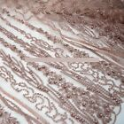 BY THE YARD - ELEGANT TULLE EMBROIDERY FLORAL BEADS BRIDAL DRESS FABRIC