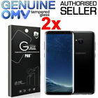2 x GENUINE Tempered Glass Screen Protector Film for Samsung Galaxy S8 & S8 Plus