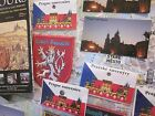 "PRAGUE MAGNETS PATCH + FREE CITY MAP SET OF ""4"" CZECH REPUBLIC SOUVENIRS"