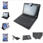 "Wireless Bluetooth Keyboard PU Leather Butterfly Case Stand for 9.7~10.5"" Tablet"