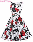 1950s Vintage Style Floral Full Circle Dress Party UK .Cocktail Evening Dress