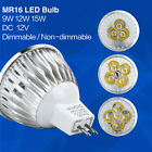 MR16 Dimmable LED Bulb Spotlight DC 12V 9W 12W 15W Replace Halogen Light bulb