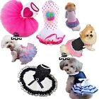 NEW Puppy Pet Small Dog Cat Bow Lace Skirt  Tutu Dress Princess Costume Apparel