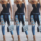Women Lace-up Sleeveless Straps Camisole Cami Tops Shirt Summer Blouse Black Hot