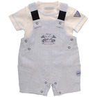 Kris X Kids Boys Racing Car Dungaree Set 0-24 months available from stock