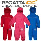 REGATTA KIDS PUDDLE IV WATERPROOF BREATHABLE ALL IN ONE BODYSUIT RKW156