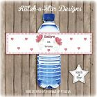 BUTTERFLY HEARTS PARTY PEEL & STICK PERSONALISED WATER BOTTLE LABELS X 5