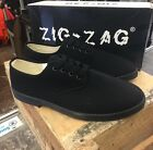 Zig Zag Wino Shoes-Black Lace-Up * Black Sole
