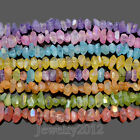 """Natural Crystal Quartz Faceted Metallic Coated Rough Nugget Beads 7.5"""" 15-20mm"""