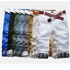 UK HOT SELL Men's Casual Summer Cargo Combat Chino Cotton Pants Trousers Shorts