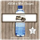 VINTAGE CAR 70TH 80TH 90TH PARTY PEEL & STICK PERSONALISED WATER BOTTLE LABELSx5