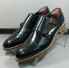 240907 MSi60 Men's Shoes Size 8.5 M Black Leather Made in Italy Johnston Murphy