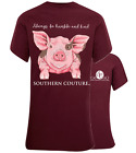 Southern Couture Always Be Humble & Kind Pig Bright Girlie T-Shirt