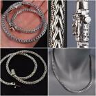 """ARTISAN HEAVY WOVEN BRAIDED MENS NECKLACE CHAIN 925 STERLING SILVER 20"""" 22"""""""