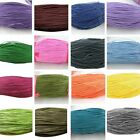 80 Metres Waxed Cotton Cord Bundle 1mm 1.5mm or 2mm String Thread 80m