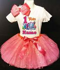 Trolls Dress 1st  Birthday --With NAME-- party Tutu outfit image